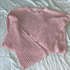 Sweaters - Light Pink Wide Knit Light-weight Sweater